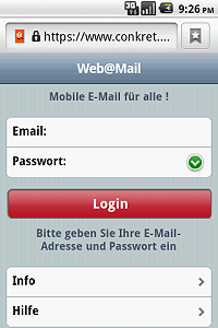 Simple login only with your email address and password