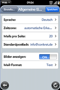 Individual configuration settings