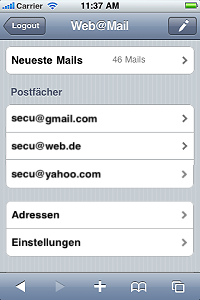 Overview of your Mailboxes